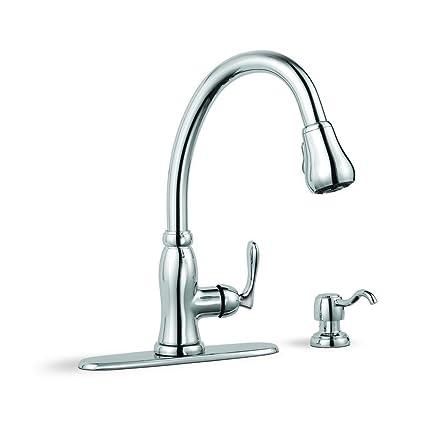 glacier bay pavilion single handle pull down sprayer kitchen faucet