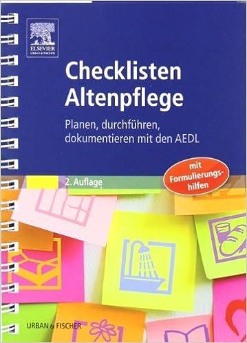 checklisten altenpflege planen durchfhren dokumentieren mit den aedl by dagmar wiederhold 2010 10 18 amazonde dagmar wiederhold bcher - Pflegeanamnese Muster