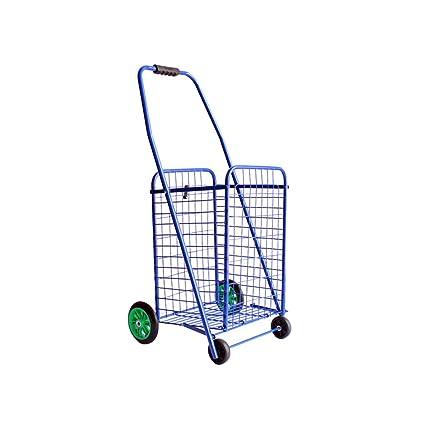 9accf998c73a Amazon.com : Shopping Cart Folding Portable Trolley Small Trailer ...
