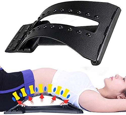 牽引装置ストレッチャーランバーサポートデバイス背中の痛みを軽減する脊椎カイロプラクティック3バックストレッチャーデバイスの調整可能な設定