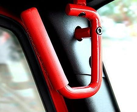 Pair Allinoneparts Front Grab Handles Roll Bar Grip Handles for 2007-2018 Jeep JK JKU Wrangler Unlimited Accessories 2 /& 4 Doors Black