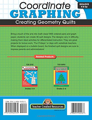 Counting Number worksheets graphing coordinates pictures worksheets : Amazon.com: Coordinate Graphing: Creating Geometry Quilts, Grades ...