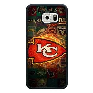 Samsung Galaxy S6 Case, Customized NFL Kansas City Chiefs Logo Black Soft Rubber TPU Samsung Galaxy S6 Case, Kansas City Chiefs Logo Galaxy S6 Case(Not Fit for Galaxy S6 Edge)