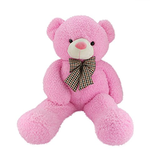 Wewill Giant Huge Cuddly Stuffed Animals Plush Teddy Bear with Bow-knot Gifts for Valentine's Day Birthday Children's day Xmas Day, 43-Inch, Pink