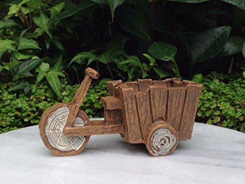 Magic Miniature Dollhouse FAIRY GARDEN Resin Wood Look Bicycle Cart Mini Garden ()
