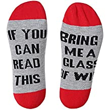 IF YOU CAN READ THIS Funny Saying Knitting Word Combed Cotton Crew Wine Coffee Beer Socks for Men Women