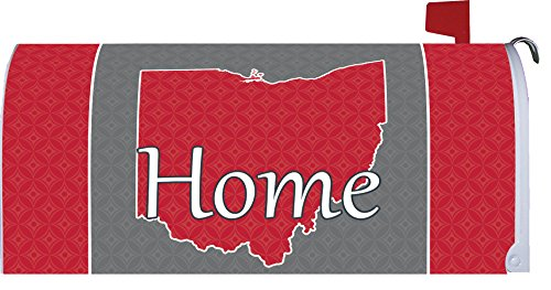 Ohio - Home - Mailbox Makover Cover - Vinyl witn Magnetic Strips for Steel Standard Rural Mailbox - Copyright, Licensed and Trademarked by Custom Decor Inc. by Custom Decor