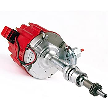 brand new compatible ignition hei red cap distributor with 65k volt coil  1030213 pe330u for sbf