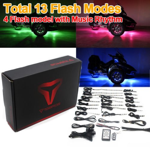 Price comparison product image 20 Pcs Rock Accent LED Light Kit Multi-Color Under Glow Neon Strips Wireless Controller For BRP Can AM Spyder RTS