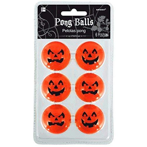 Jack-O-Lantern Pong Balls 6ct ()