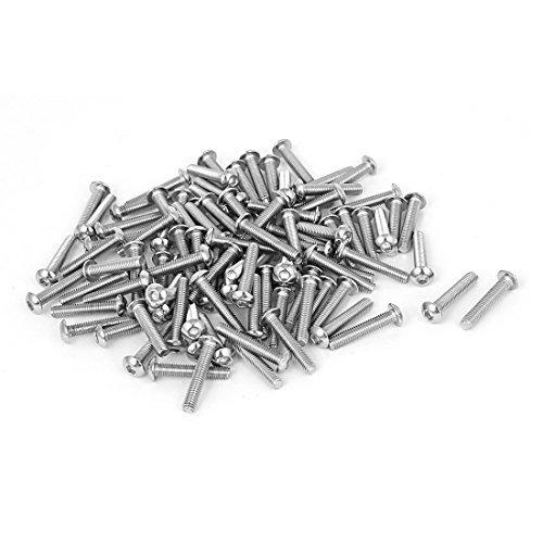 M3x16mm Button - M3x16mm Stainless Steel Hex Socket Button Head Bolts Screws 100 Pcs