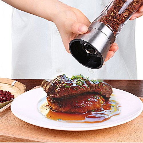 Veego Stainless Steel Salt and Pepper Grinder B...
