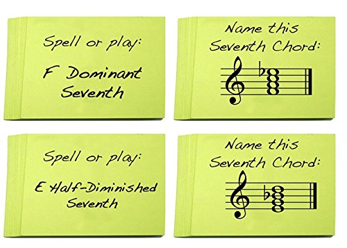 Flashcard Sets. Great for Learning Chords (Minor, Major, Dominant and Half Diminished and Diminished Chords) ()