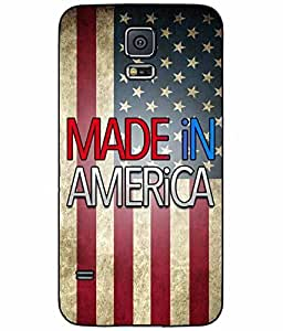 Made In America Plastic Phone Case Back Cover Samsung Galaxy S5 I9600