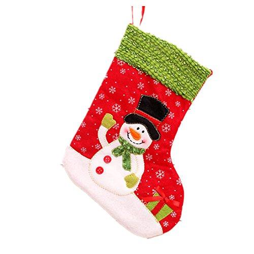 Viskey クリスマス靴下型ギフトバッグ 携帯式 スノーマンデザイン 6点 B00PDT5FLW スノーマン6点 スノーマン6点
