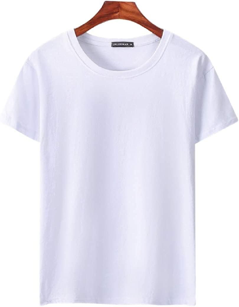 Flower go Mens Short Sleeve T-Shirt Mens Simple Sport Style Tops for Summer Crewneck Active Athletic T-Shirt
