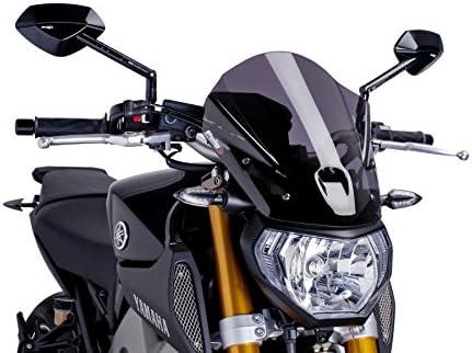 Schwarz Medium Puig 6859N Windschutzscheibe Cockpitverkleidung f/ür Yamaha MT-09 2013-2014