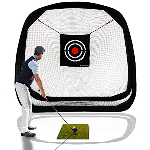 (Galileo Golf Hitting Net Golf Training Aid Golf Nets for Backyard Driving Indoor Use Pop Up Driving Nets with Target for Practice Chipping Golfing Netting Indoor Outdoor Sports 8'(L)X8'(H)X3'(W))