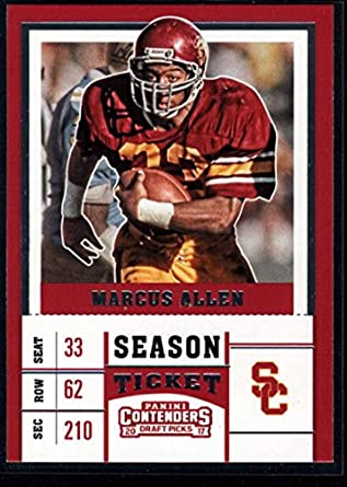 0ea45666f9e 2017 Panini Contenders Draft Picks Season Ticket #69 Marcus Allen USC  Trojans Football Card