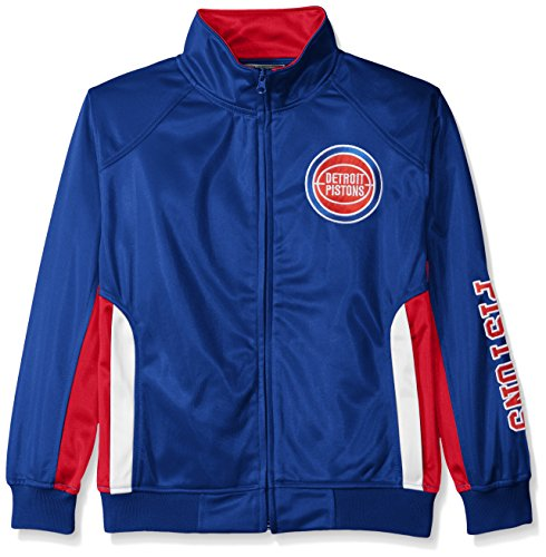 NBA Detroit Pistons Tricot Track Jacket with Logo WordMark, Large, Royal - Nba Detroit Pistons Leather