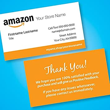 Amazon Amazon Seller Business Cards Free Custom Url To Your