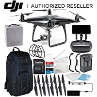 DJI Phantom 4 PRO+ PLUS Obsidian Edition Drone Quadcopter Includes Display (Black) Starters Pro Backpack Bundle
