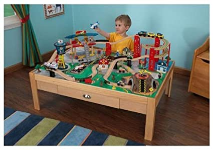 Amazon.com: KidKraft Airport Express Train Set: Toys & Games