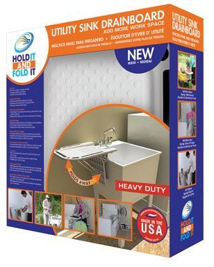 Talisman Designs 101 Hold It And Fold It Utility Sink Drain Board Flip-Up by Talisman Designs by Talisman Designs