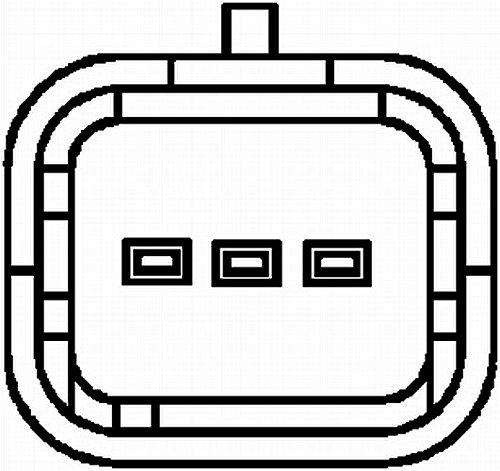 N/° raccordi 3 HELLA 6PU 009 163-451 Generatore di impulsi Albero a gomiti
