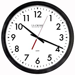 LaCrosse 404-2636-INT Commercial Analog Wall Clock, 14, Black