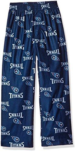 Nfl Boys 4 7 Titans Sleepwear All Over Print Pant  M 5 6   Dark Navy