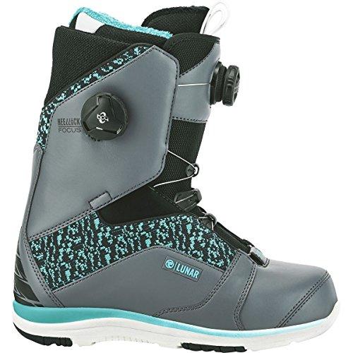 Lock Boa Snowboard Boots (Flow Lunar Heel-Lock Focus Boa Snowboard Boot - Women's Space Grey, 6.5)