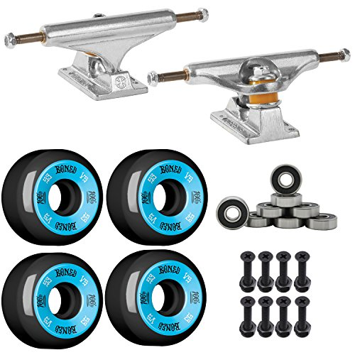 INDEPENDENT 129 SKATEBOARD TRUCKS, BONES Wheels, Abec - Complete Wheels Deck Trucks Skateboard