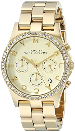 Marc by Marc Jacobs Women s MBM3105 Henry Gold-Tone Stainless Steel Bracelet Watch