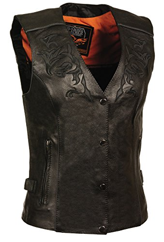 - Milwaukee Women's Leather Vest (Black/Black, XXX-Large)