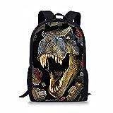 Frestree Cute Cartoon Print Kids School Bag Durable Backpack for Boys and Girls (large, Dinosaur)