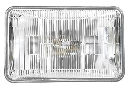 Electric Headlamp - Philips H4666C1 Standard Halogen Sealed Beam headlamp, 1 Pack