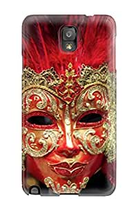 Quality Case Cover With Feather Carnival Mask Nice Appearance Compatible With Galaxy Note 3 3860914K80803288