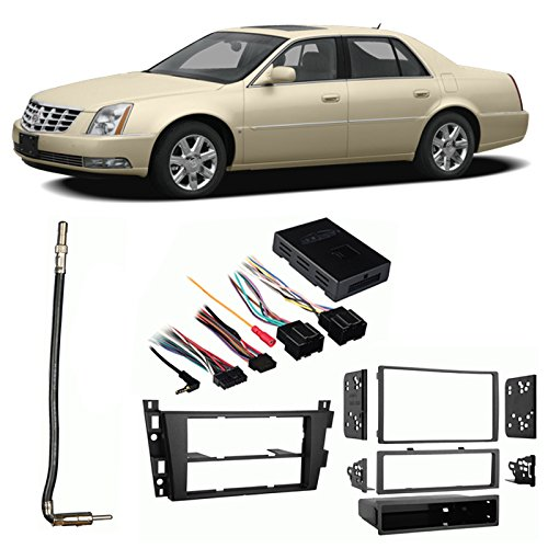 Fits Cadillac DTS 2006-2011 Single/Double DIN Harness Radio Install Dash Kit