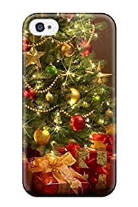 New Style Tpu 4/4s Protective Case Cover/ Iphone Case - Christmas Trees