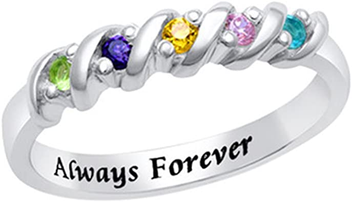 a266XDKSJK Personalized 925 Silver Custom Name Ring Jewelry Custom Made with Any Names Family Friendship Name Rings For Her