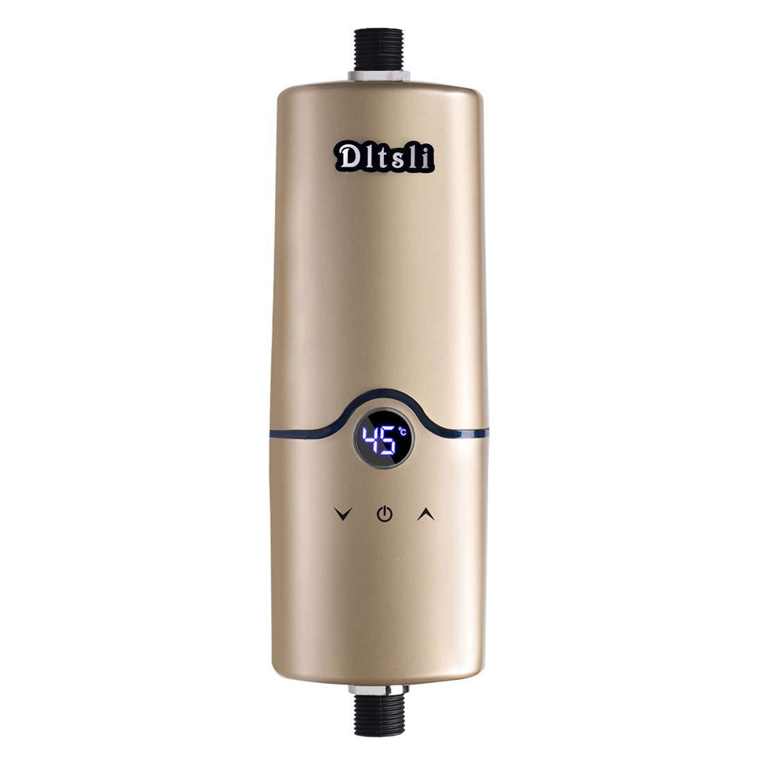 Chauffe-eau instantané chaud instantané de l'eau 240V 4 niveaux de puissance 5.5KW 5KW 4.5KW 3.5KW pour la couleur de salle de bains de cuisine d'or LOUTY