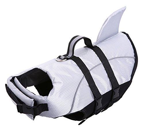 Flotation Pet Vest (Ripstop Dog Life Jacket, Shark Life Vest for Dogs, Size Adjustable Lifesaver Safety Jacket, Pet Saver Vest Coat Flotation Float Aid Buoyancy)