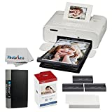 Canon SELPHY CP1200 Wireless Compact Photo Printer (White) + KP-108IN Photo Paper & Ink Kit + Itoya Slim Profolio 4 x 6'' Photo Album (240 Photos) + Photo4Less Cleaning Cloth - Deluxe Printing Bundle