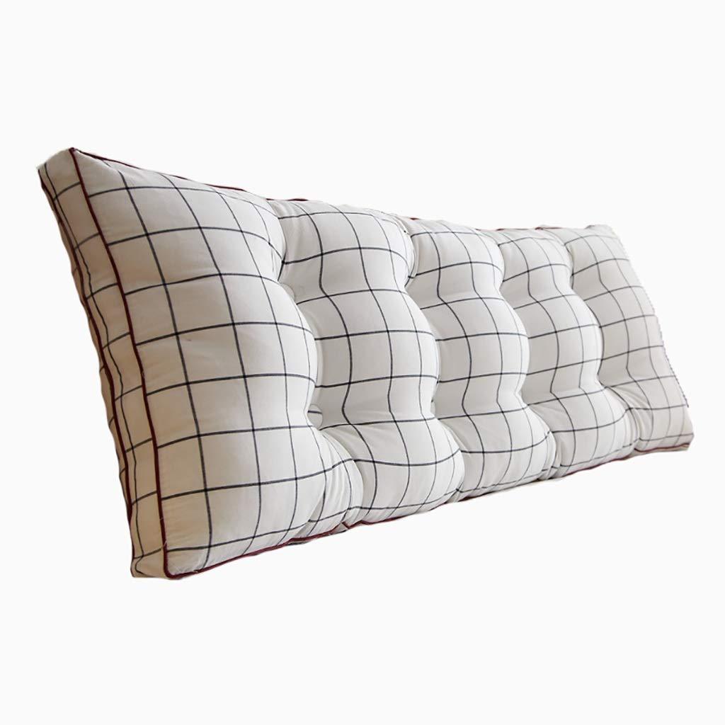 ベッド枕 洗ったコットンベッドソフトパッククッション大背もたれ取り外し可能ベッドロング枕畳ベルト背もたれ枕[ライブボタンデザイン] [取り外しやすく洗いやすい]サイズ90cm-200cmオプション 写真ベッド枕首まくら (色 : T, サイズ さいず : 180cm) B07RT4GR5P