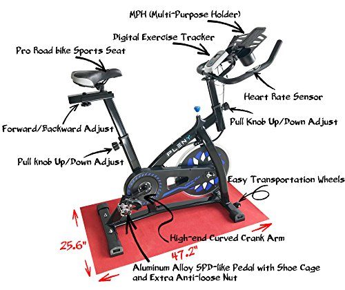 Exercise Bike Tall Person: PLENY Indoor Stationary Cycle Bike For Tall People With
