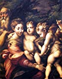 Girolamo Mazzola (Parmigianino) The Holy Family - 20'' x 25'' 100% Hand Painted Oil Painting Reproduction