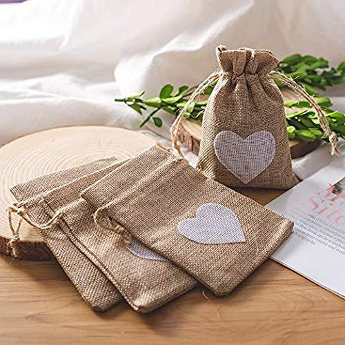 saco de tela enamorados boda