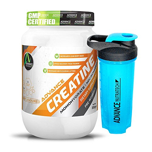 Advance Nutratech Combo Creatine Monohydrate unflavoured 300g With Omega Shaker