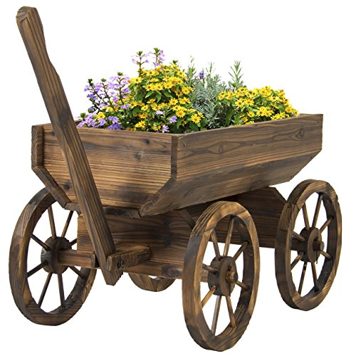 best-choice-products-patio-garden-wooden-wagon-backyard-grow-flowers-planter-w-wheels-home-outdoor